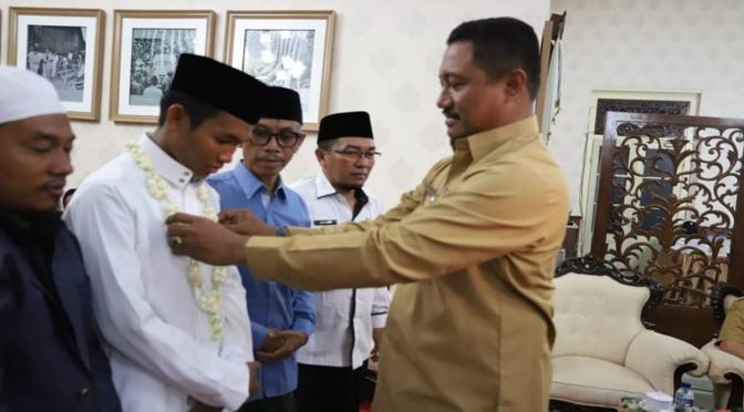 Santri Peraih Juara Tahfidz ASEAN Disambut di Pendopo Pamekasan