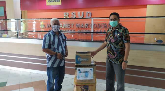 Universitas Brawijaya (Unibraw) Malang bantu APD di RSUD Pamekasan