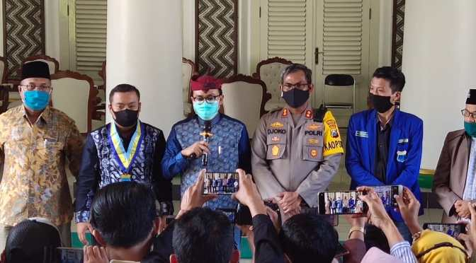 Bupati Pamekasan Fasilitasi Perdamaian Polres-PMII Terkait Kekerasan Unjuk Rasa