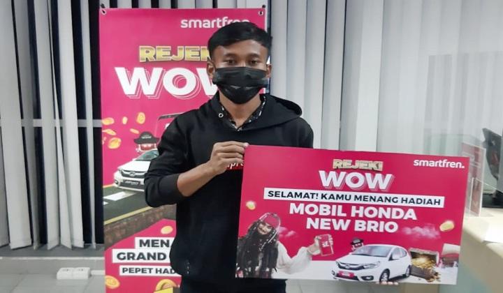 Pemenang Mobil dari Smartfren Rejeki WOW, Ahmad Sugiyanto